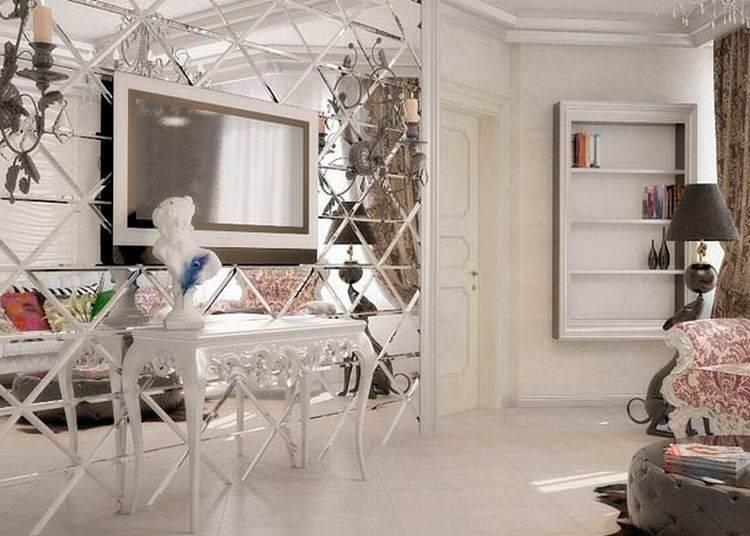 Зеркальная плитка в жилом интерьере - 23 фото примера
