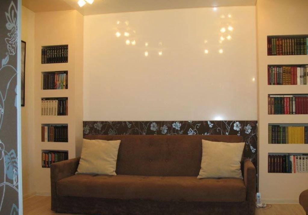 Ниши в гостиной из гипсокартона (36 фото): как красиво оформить в стене зала, оформление ниши в дизайне интерьера