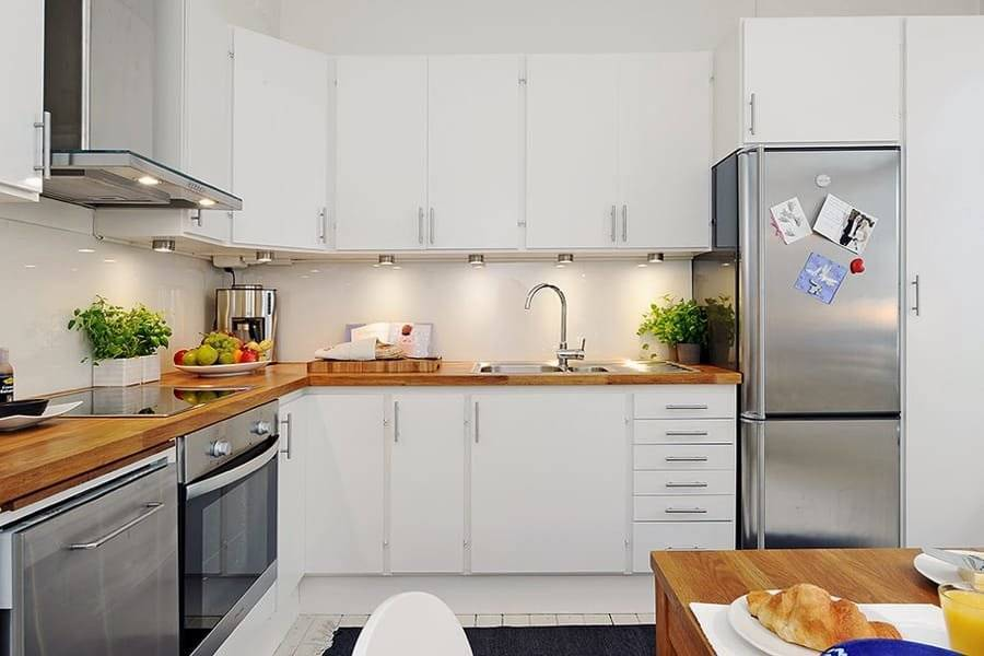Каким может быть дизайн белой кухни в интерьере