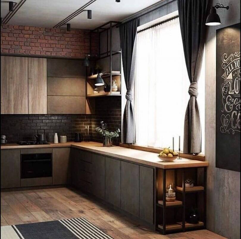 Кухня в стиле лофт: 100 лучших примеров на фото - дизайн интерьера