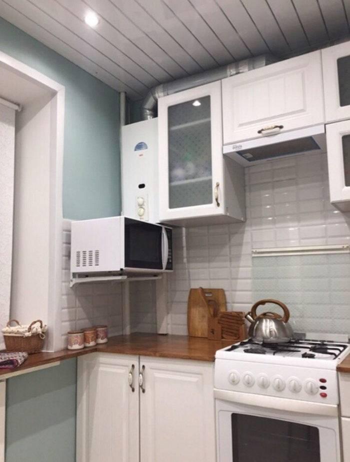 Идеи дизайна кухни в хрущевке: с холодильником, колонкой, как совместить с гостиной
