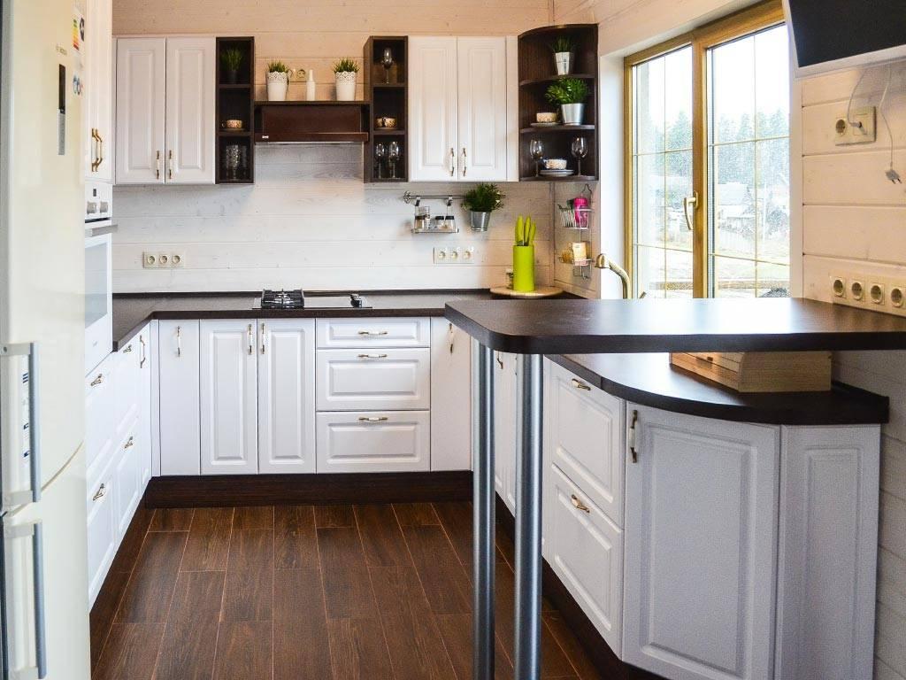 Угловая кухня с барной стойкой: выбор мебели, планировка и дизайн