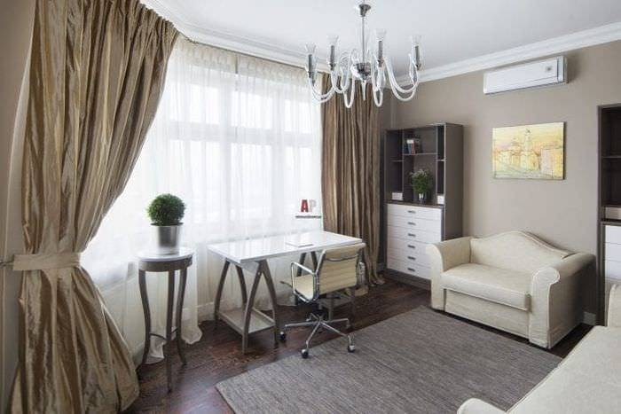 Шоколадный цвет и его сочетания с другими оттенками в интерьере, тонкости его использования в оформлении гостиной, спальни, ванной - 19 фото