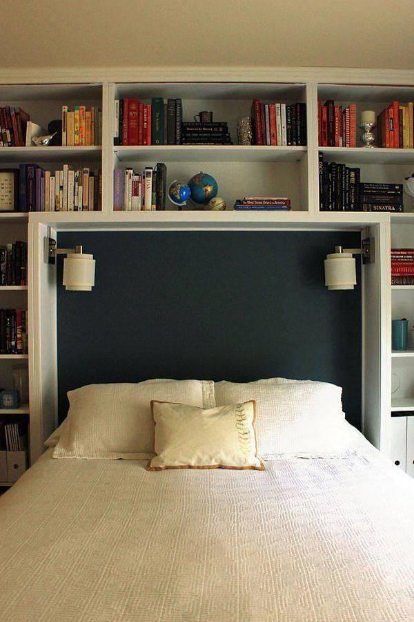 Кровать с полками: особенности и варианты расположения