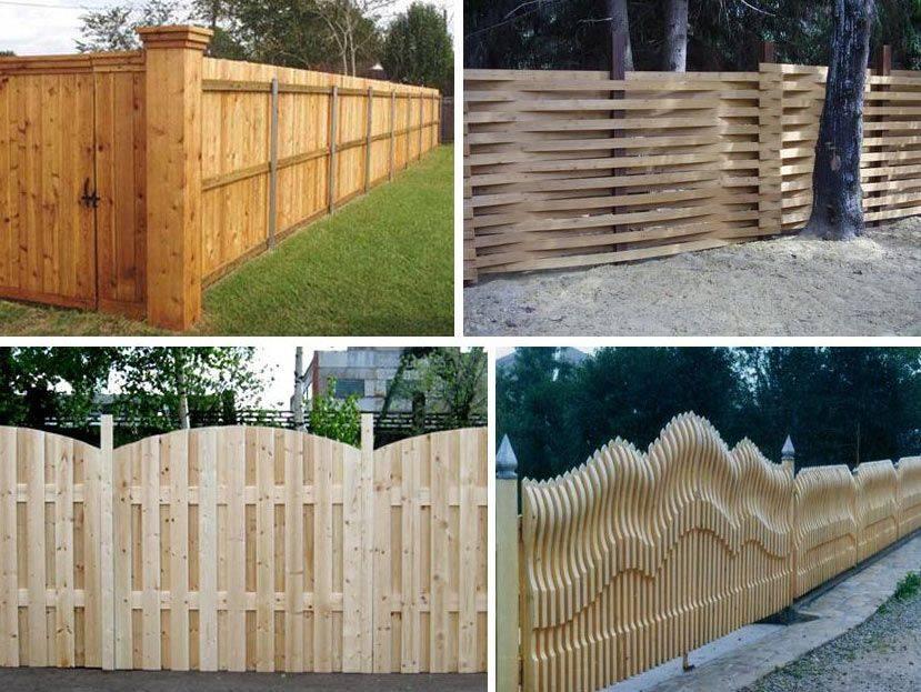 Дизайн деревянного забора частного дома: фото