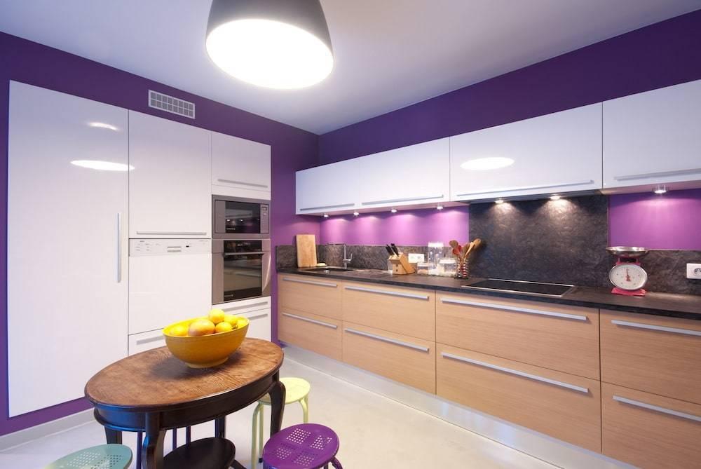 Сиреневая кухня (58 фото): особенности использования кухни сиреневого цвета в интерьере. варианты дизайна  кухонного гарнитура в лавандовых тонах
