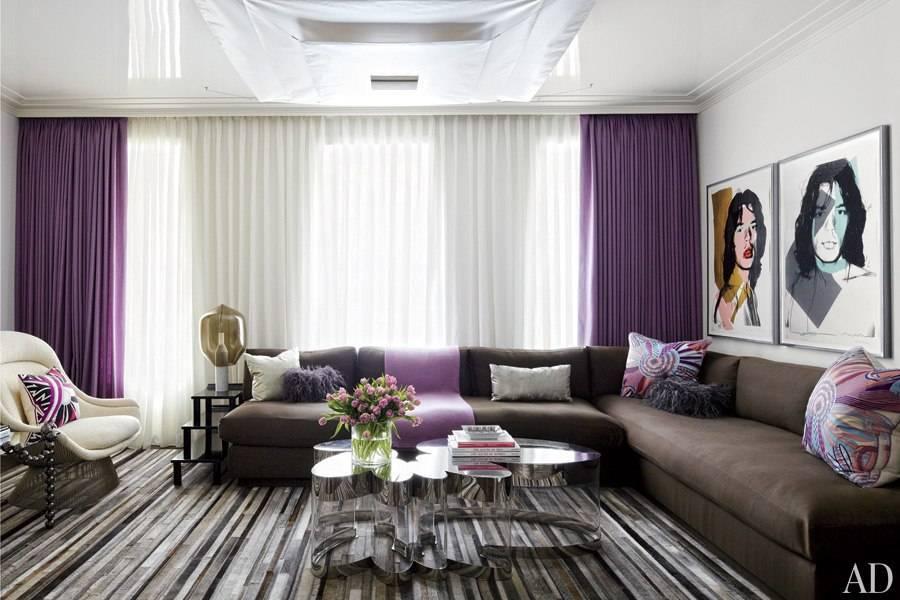 Фиолетовый диван (51 фото): сиреневый и темно-фиолетовый цвета в интерьере, экокожа и бархатный, как подобрать шторы под цвет мягкой мебели обивки