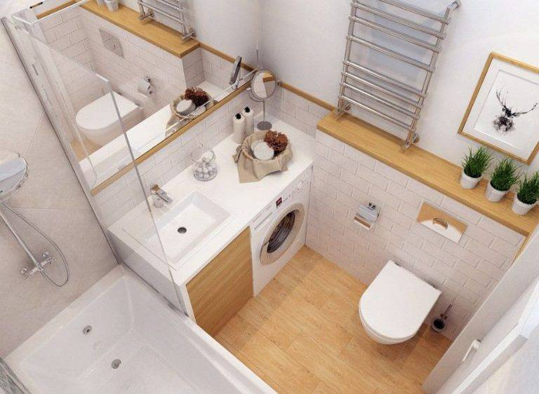 Дизайн ванной комнаты 6 кв. м.: оригинальные идеи применения и лучшие варианты создания модного дизайна (105 фото)