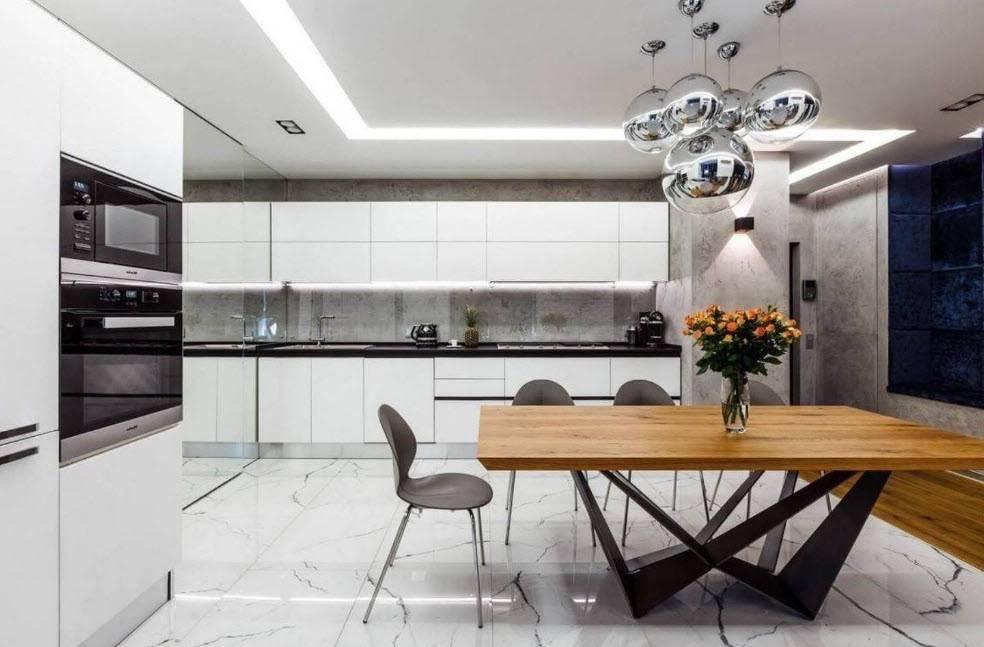Кухня в стиле хай-тек: технологичный интерьер