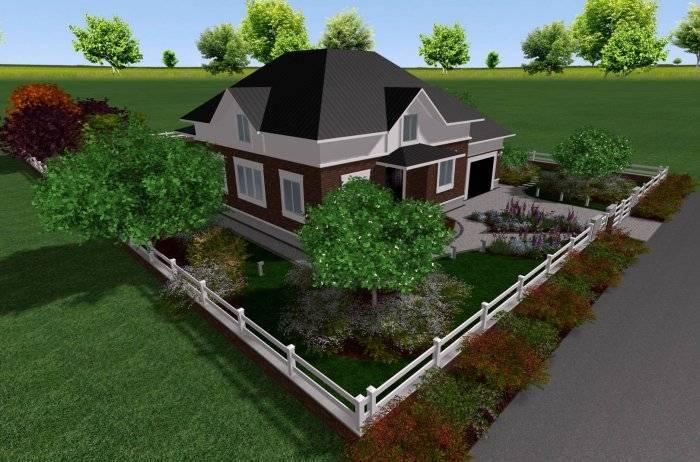 Ландшафтный дизайн участка площадью 25 соток (54 фото):  проекты оформления длинной узкой территории, красивые варианты декора