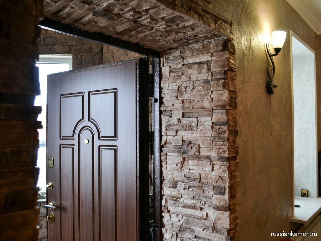 Как отделать декоративным камнем дверной проем