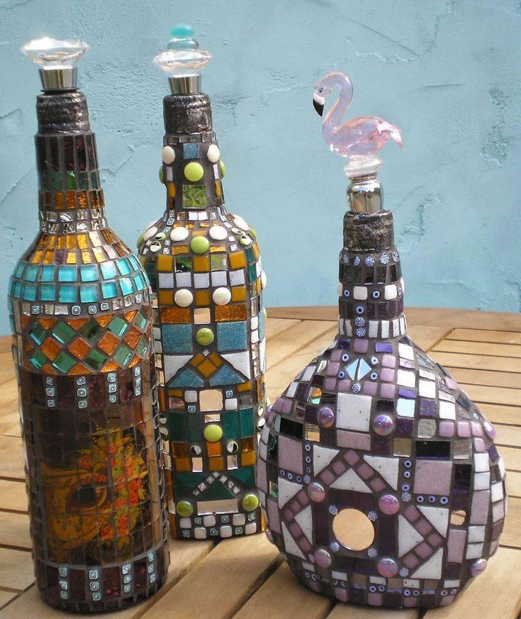 Декор бутылок своими руками — 50 идей