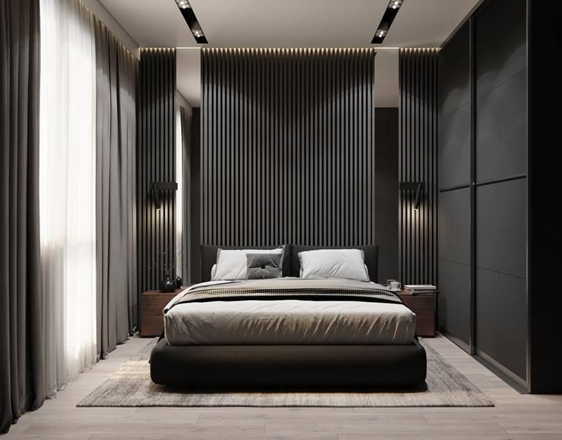 """Спальня в стиле """"минимализм"""" (72 фото): дизайн интерьера серой комнаты, белая спальня, уютные варианты оформления в минималистическом стиле"""