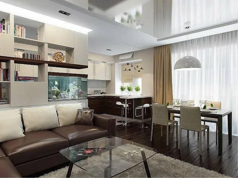 Оформление дизайна интерьера гостиной в «хрущевке»