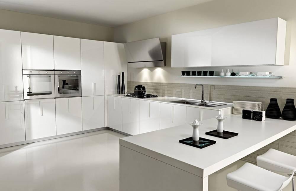 Дизайн кухни в белом цвете: лучшие фото примеры