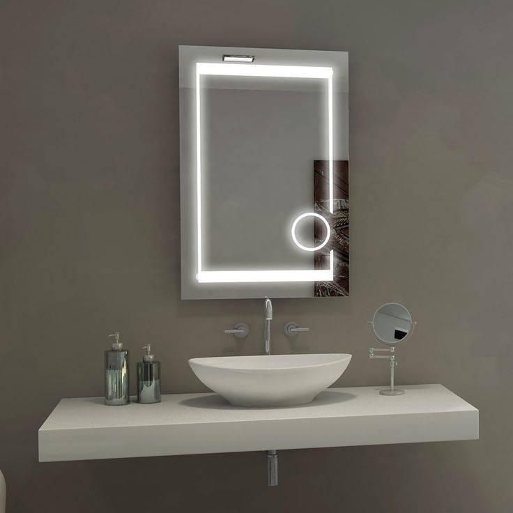 Дизайн зеркала в ванной комнате — встроенное в плитку и выдвижное