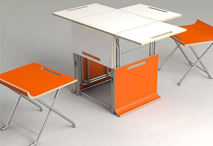 Раскладные кухонные столы: виды, материалы и советы по выбору