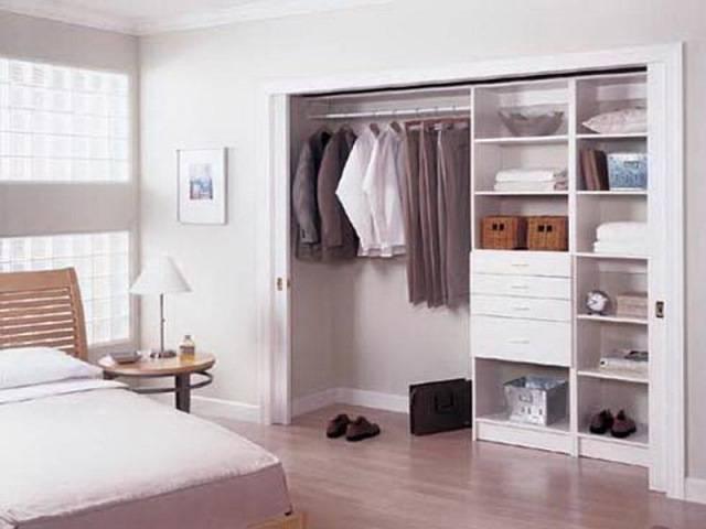 Гардеробная в спальне - 40 фото в красивом обустройстве