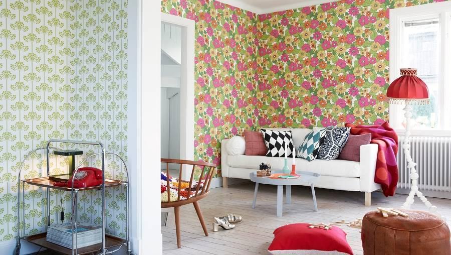 Обои-компаньоны в интерьере спальни: примеры оформления комнаты, стилевые решения