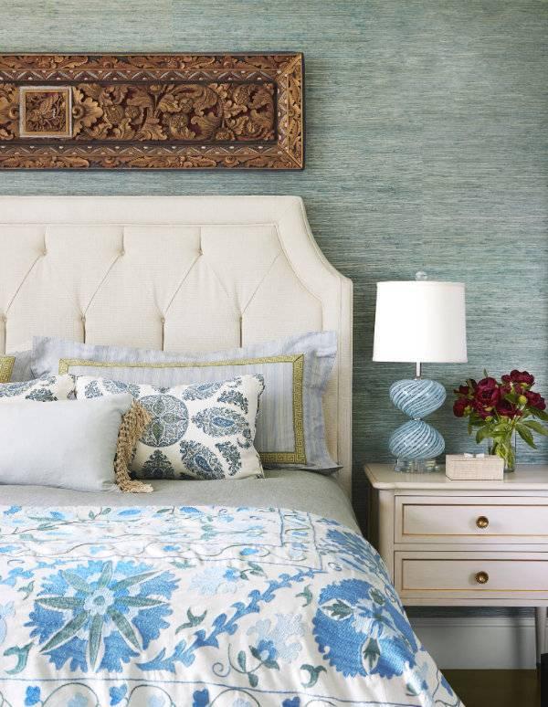 Дизайн изголовья в спальне — необычные варианты оформления и создания мягкого и жесткого изголовья (170 фото)