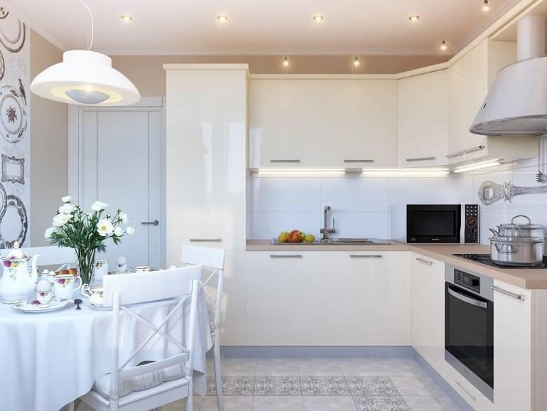 Глянцевая кухня: 70+ фото, плюсы и минусы, матовая или глянцевая, уход
