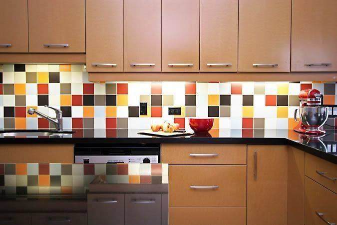 Кухонный фартук из плитки: 55 фото, идеи дизайна