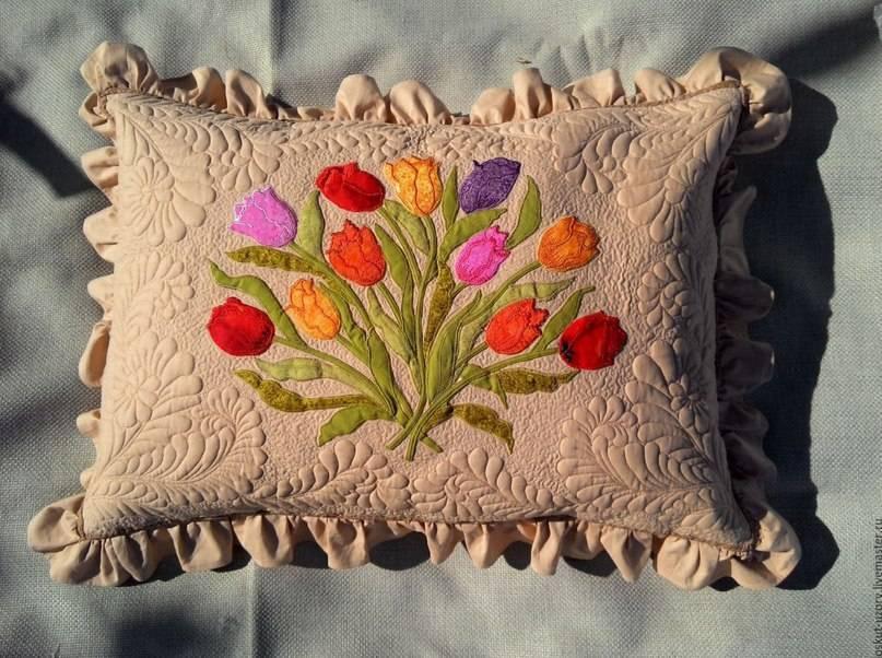Декор подушек своими руками – шитьё и вязание!