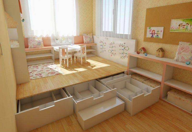 Подиум с выдвижной кроватью: как сделать своими руками, чертежи и размеры, схемы и проекты, эскизы