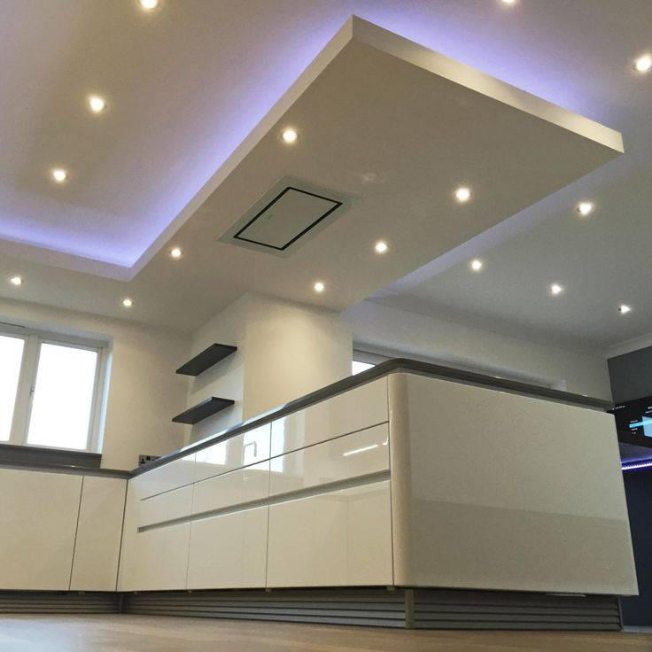 Потолки из гипсокартона на кухне - фото различных вариантов дизайна