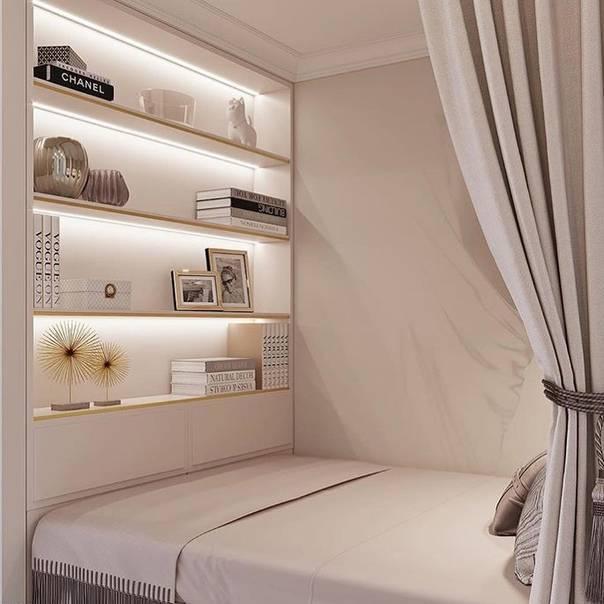 Варианты дизайна спальни 19-20 кв. м