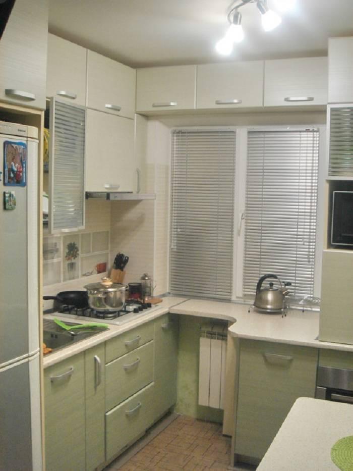 Ремонт кухни 6 кв.м с холодильником: 5 вариантов и 138 фото
