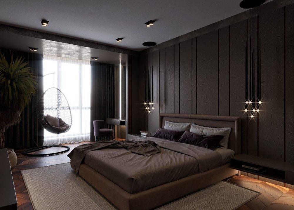 Как выбрать темный тон интерьера для спальной комнаты