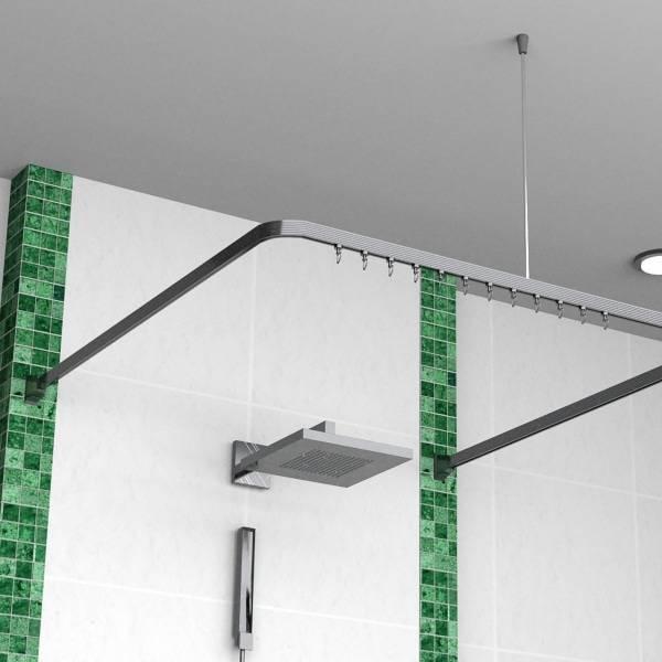 Как установить карниз для шторы в ванную?