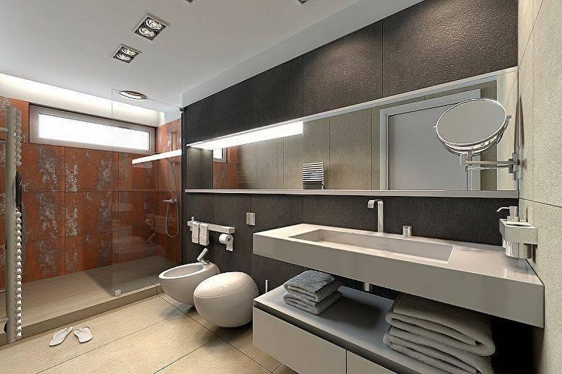 Ванная комната в стиле хай-тек - особенности стиля - vannayasvoimirukami.ru