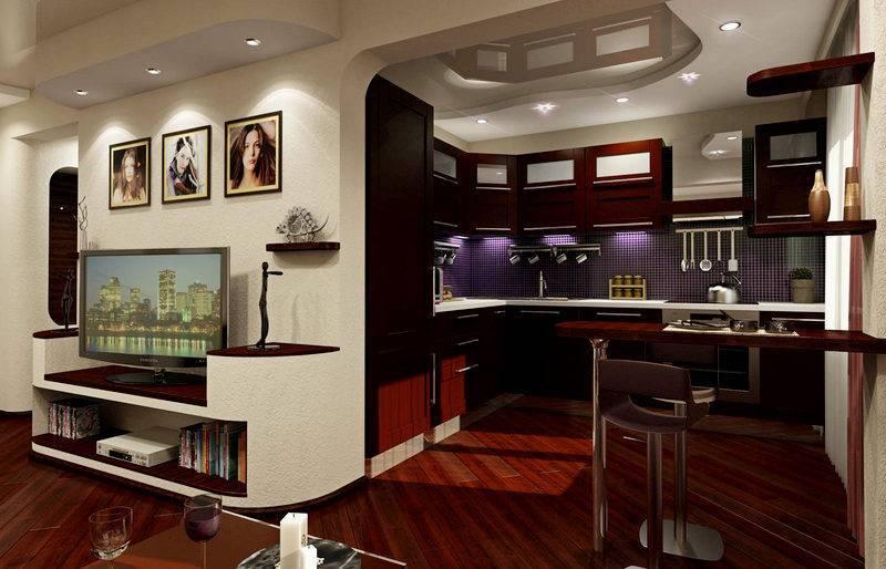 Дизайн кухни-гостиной (152 фото): интерьер совмещенных комнат в квартире, примеры проектов кухни, объединенной с залом, варианты оформления