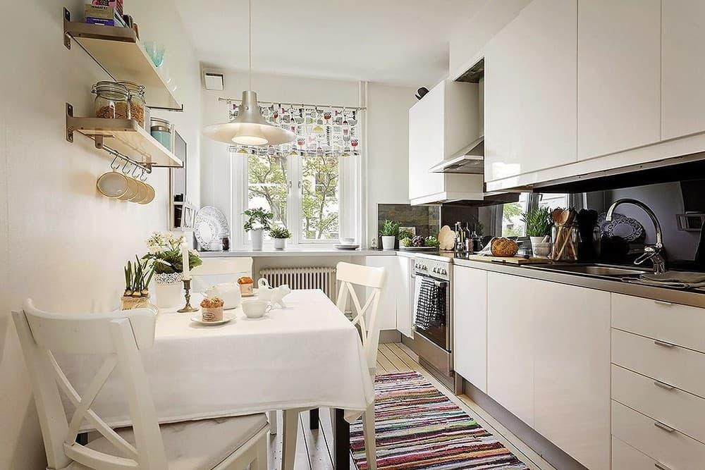 Дизайн кухни площадью 4 квадратных метра - со вкусом