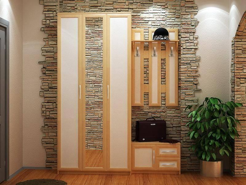 Варианты отделки стен в прихожей (69 фото): варианты дизайна ниши в коридоре квартиры