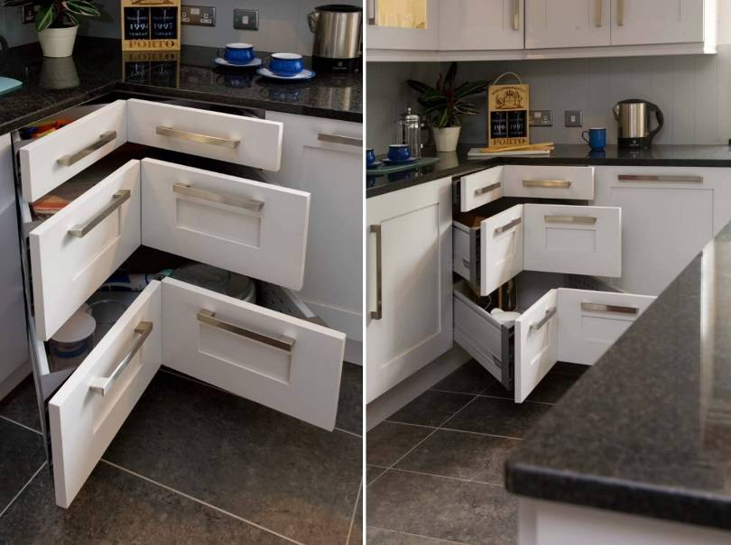 Маленькие угловые кухни (114 фото): обзор небольших кухонных гарнитуров для малогабаритной кухни, идеи дизайна интерьера