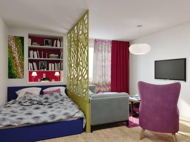 Гостиная-спальня (136 фото): интерьер совмещенной комнаты, дизайн-проект гостиной-детской в «хрущевке», выбираем спальное место