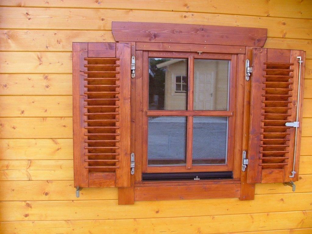Деревянные ставни на окна своими руками - необходимые инструменты и технология изготолвения
