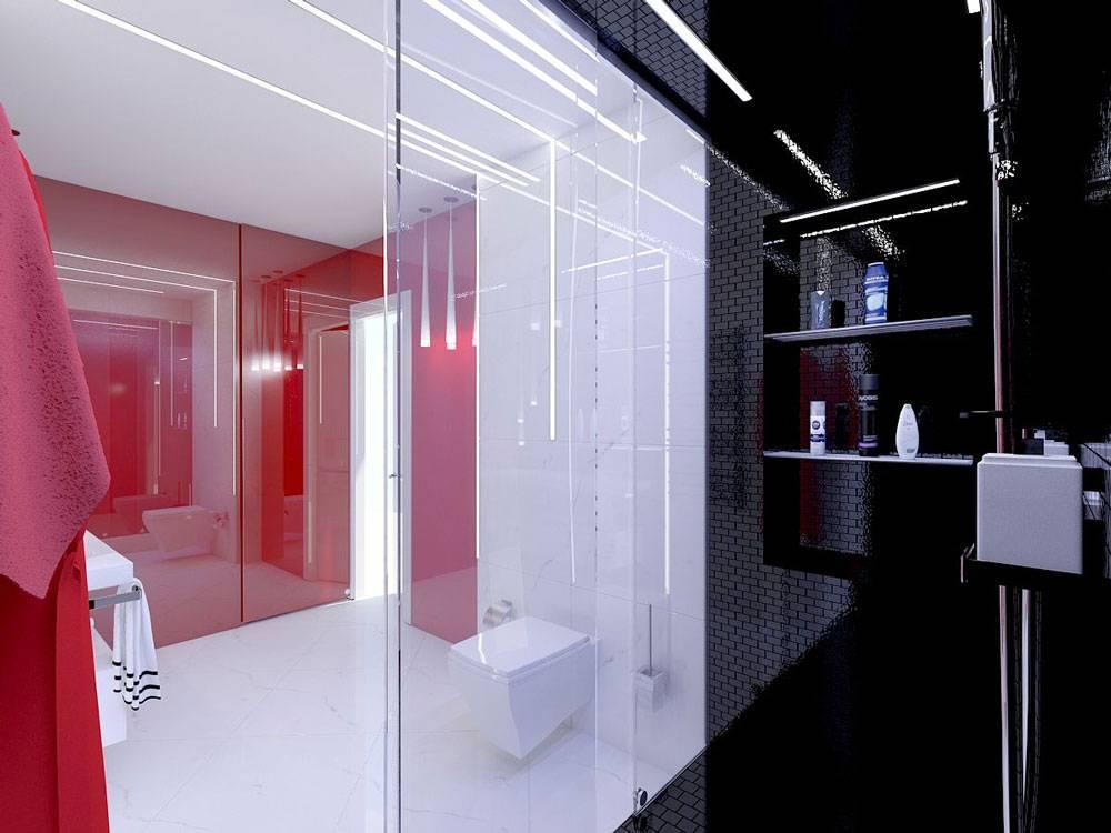 Ванная комната в стиле хай тек: выбор дизайна и аксессуаров
