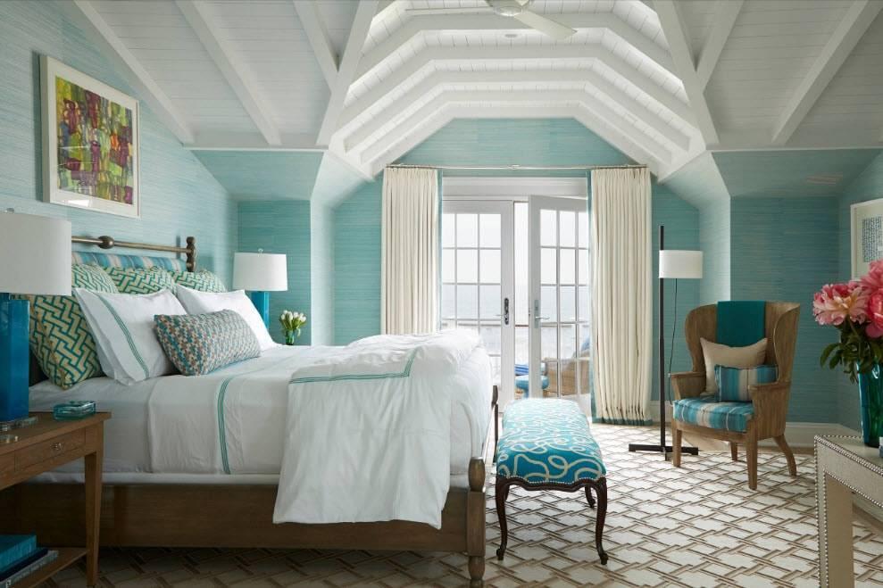 Спальня в зеленых тонах: 16 фотоидей дизайна интерьера