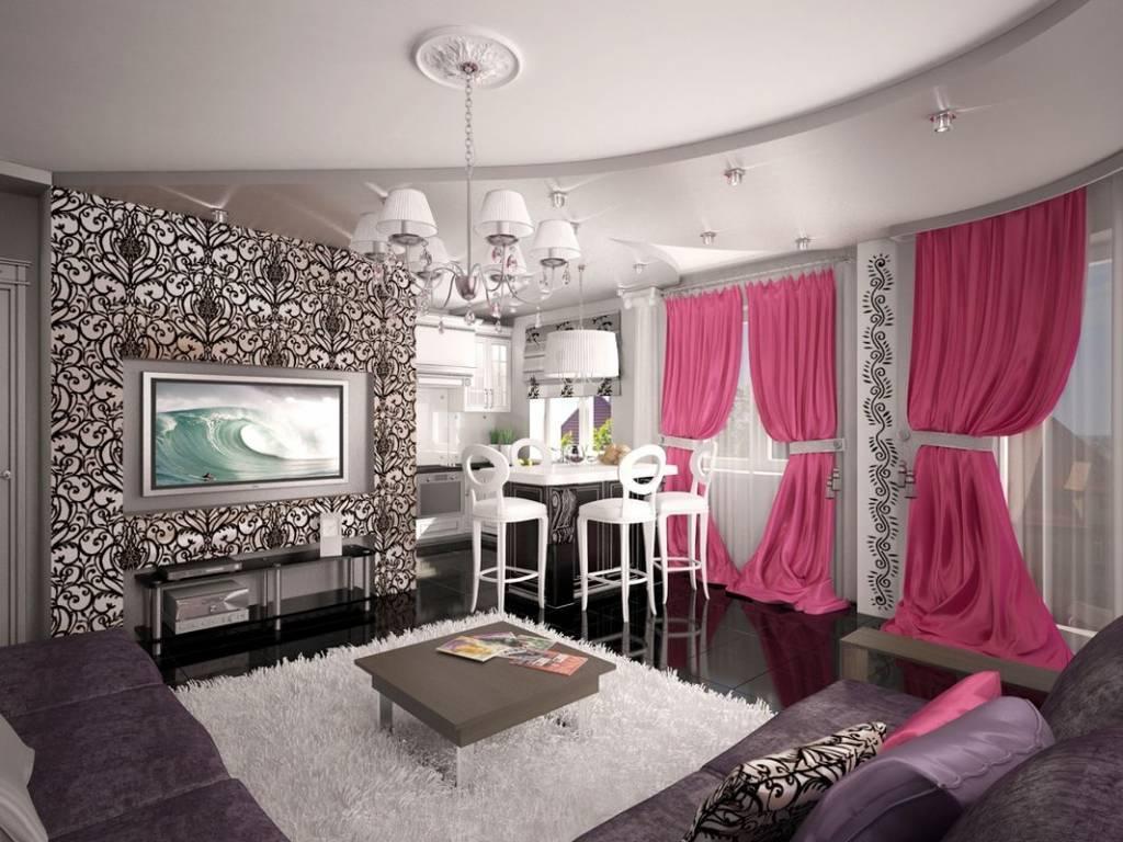 Роскошный интерьер кухни в стиле гламур