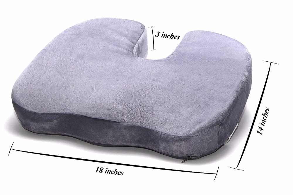 Ортопедическая подушка для сидения на стул, в автомобиль: как выбрать, сделать своими руками