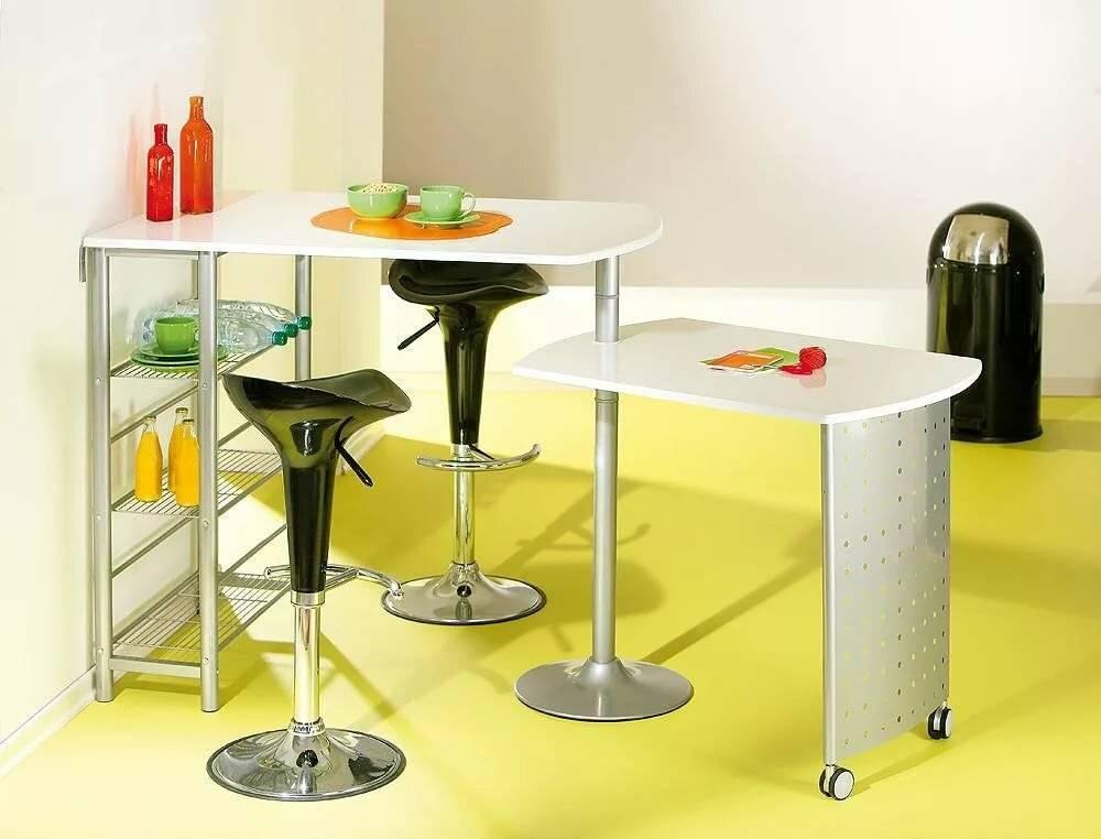 Дизайн кухонного помещения с барной стойкой трансформер
