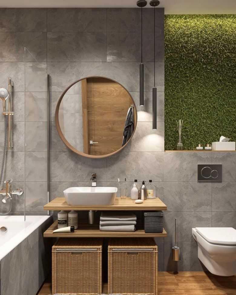 Дизайн ванной 2021   модные тренды интерьера (+55 фото)