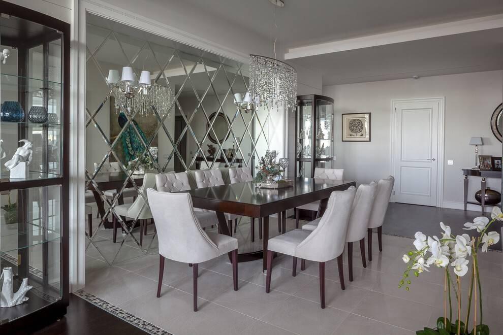 Зеркальная плитка: идеи декора в современном интерьере