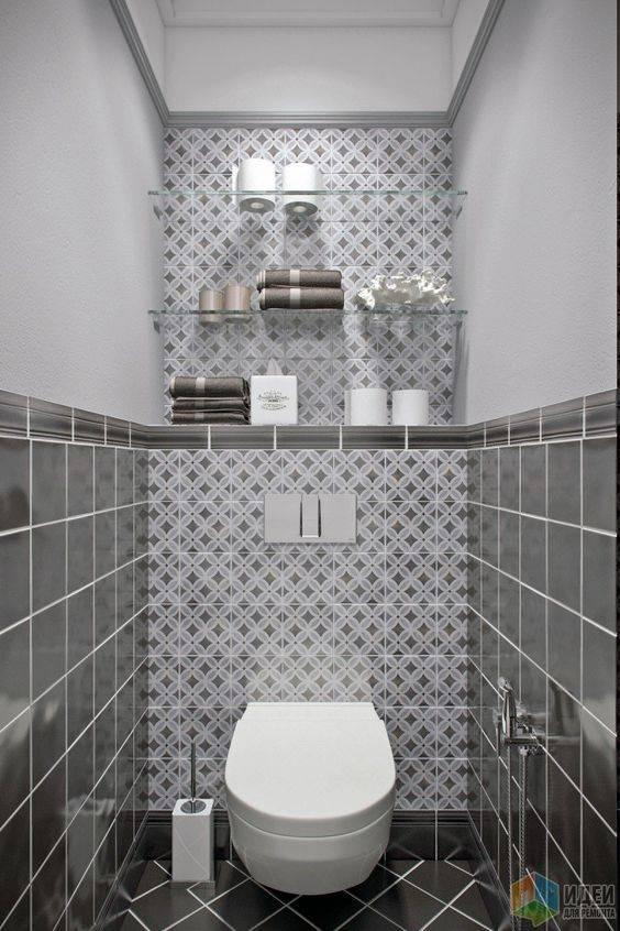 Плитка для туалета: виды для стен и пола, варианты дизайна отделки санузла