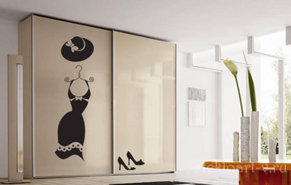 Красивые рисунки на шкафах купе - разновидности и фотографии