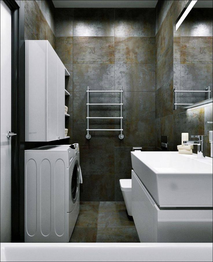 Ванная в стиле лофт: 50+ фото в интерьере, особенности дизайна
